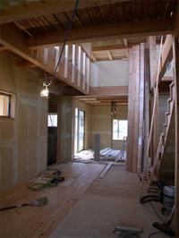 take_House 木工事ほぼ完了